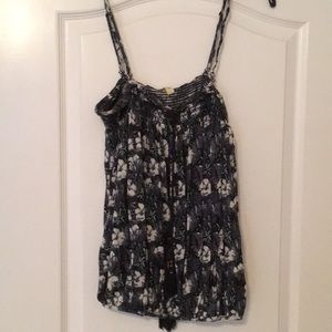 Sleeveless floral free people top